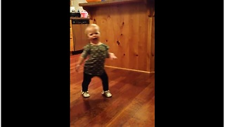 Toddler Imitating How Pregnant Mom Walks Will Brighten Your Day  - Video