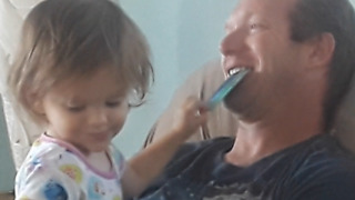 Little Girl Treats Her Dad Like an ATM - Video