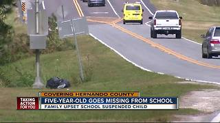5-year-old runs away from elementary school, found by motorists then suspended for three days - Video