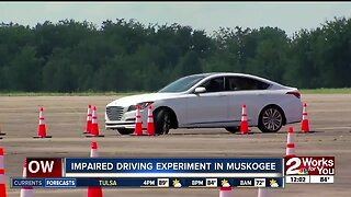 Impaired driving experiment in Muskogee