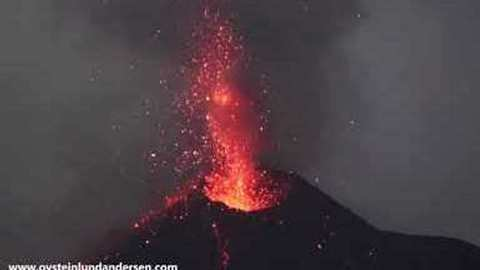 Lava Seen Spurting From Indonesian Volcano Short Distance From Danger Zone