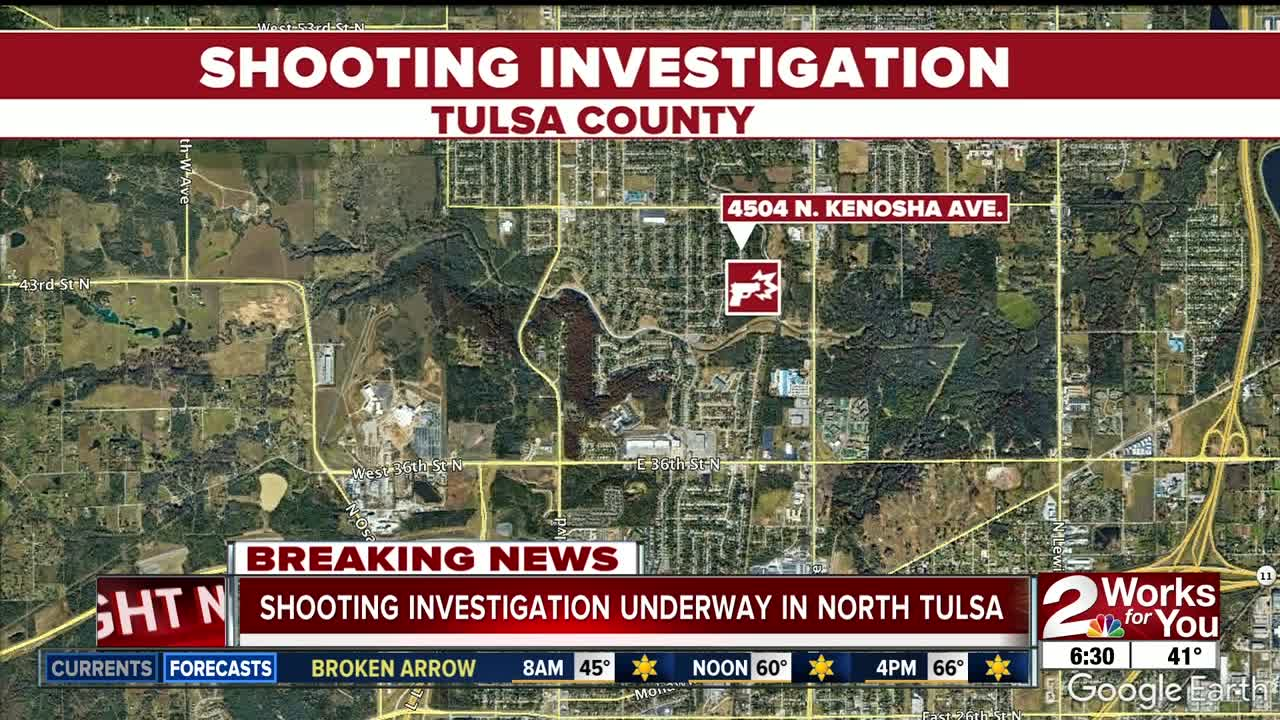 Shooting Investigation Underway in North Tulsa