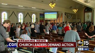 Church leaders demand action in wake of mass shootings