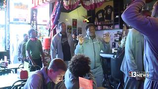 Local pizza shop helps out Miami HS football team stuck in Las Vegas - Video