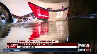 Update: Vehicle lands head-first in Lehigh Acres Canal - Video