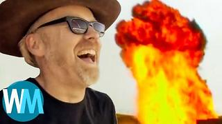 Top 10 Craziest MythBusters Moments - Video