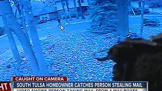 South Tulsa Homeowner Catches Person Stealing Mail - Video