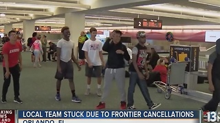Las Vegas Youth Football Team stranded from Frontier cancellations - Video