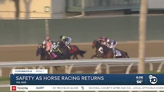 Safety measures in place as horse racing returns at Del Mar