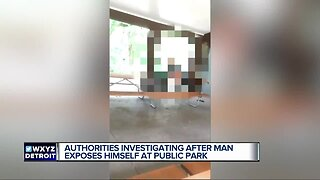 Man caught exposing himself
