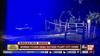Woman found dead outside Plant City mobile home