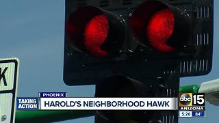 Phoenix neighborhood HAWK signal activated