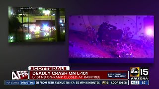 Driver dead after crash near Loop 101 and Raintree