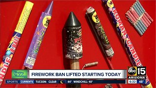 Firework ban lifted today - Video