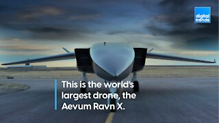 This is the world's largest drone, the Aevum Ravn X