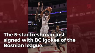 5-Star Freshman Quits NCAA To Sign With European Team - Video