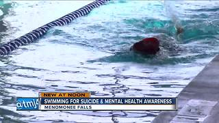 Menominee Falls woman swims for suicide awareness