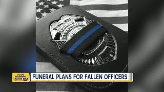 Funeral plans for fallen officers - Video