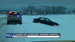 Southeast Wisconsin digs out from overnight snow - Video
