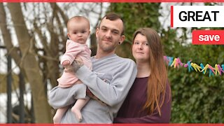 Dad forced to deliver his baby at home using just one hand