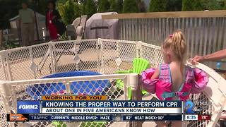 Two-year-old girl saved from near drowning - Video