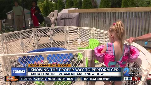 Two-year-old girl saved from near drowning