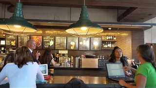 Gov. Scott Forced to Leave Gainesville Starbucks By Angry Woman - Video
