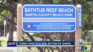 3-year-old girl bitten by shark in Martin County - Video