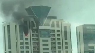 Fire Breaks Out at High Rise Residential Building in Mumbai - Video