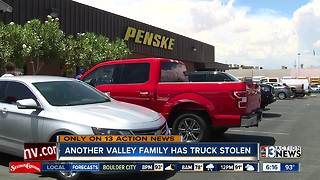 Another valley family has moving truck stolen