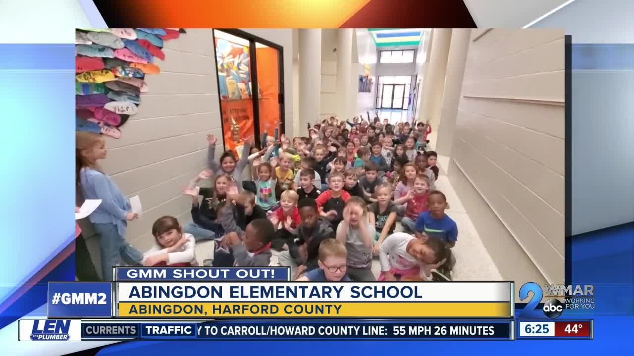 Good morning from Abingdon Elementary School!