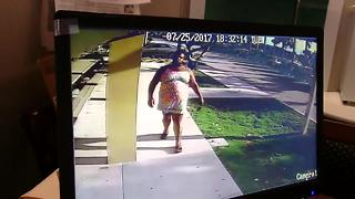Cross-dressing suspect captured on surveillance - Video