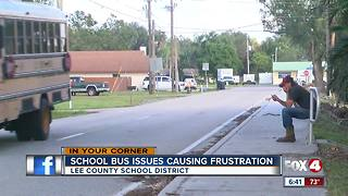 Children miss several days of school because of no-show buses