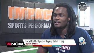 After viral proposal video, Deion Pierre prepares for NFL Draft in Boca Raton