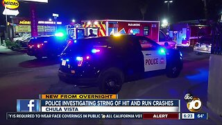 Police investigate hit-and-run crashes in Chula Vista