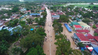 Drone Footage Shows Flooding on Mindanao From Tropical Storm Vinta - Video