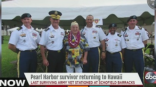 Pearl Harbor survivor returning to Hawaii