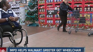 IMPD helps Walmart worker get wheelchair - Video