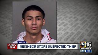 Victim of Mesa burglary holds suspect at gunpoint - Video