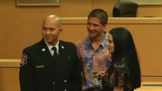 Pinning ceremony held for members of Las Vegas Fire & Rescue - Video