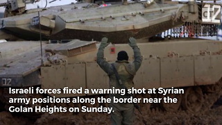 Israel Fires on Syrian Army Outpost - Video