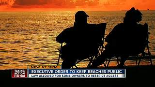 Gov. Scott orders all beaches remain open to public - Video