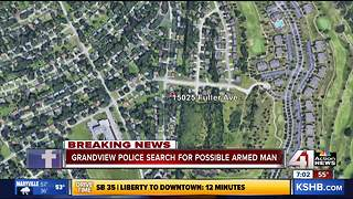 Grandview, Lee's Summit police search for possibly armed suspects - Video