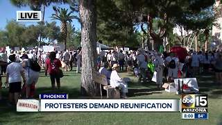 Immigration rally at Arizona State Capitol - Video