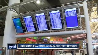 Hurricane Irma causing headaches for travelers - Video