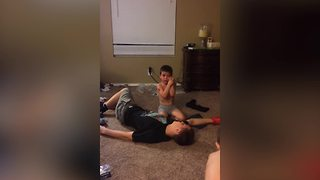 Teen Boy Pretends That He's Dead To Prank His Little Brother - Video