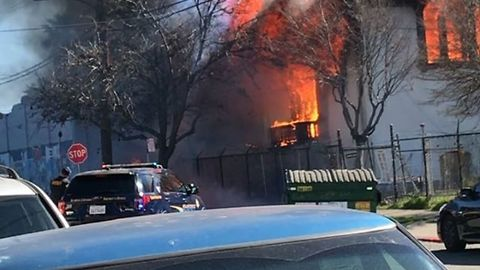 Abandoned Oakland Library Building Destroyed After Fire