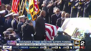 Thousands attend Detective Sean Suiter's funeral - Video