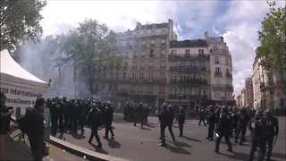 Paris May Day March Descends Into Fierce Confrontations - Video