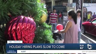 Holiday hiring plans slow to come